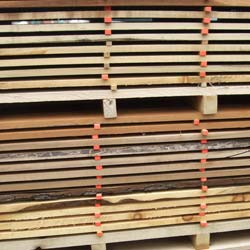 Stack of lumber pre drying before kiln at Metro Hardwoods